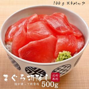 【送料無料】まぐろ 切り落とし 500g(100g×5パック)赤身 刺身 キハダ鮪 鮪 マグロ