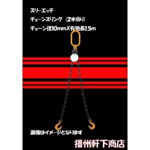 軒下推奨 チェーンスリング(2本吊り) 有効長1.5m  CS2−10−1.5m 使用荷重4ton(90度以下)|bansyu-nokisita