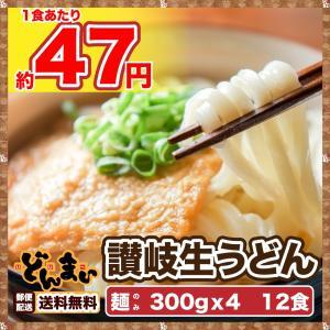 今だけ特別価格! 讃岐生うどん 麺300g×4袋  12食  ゆうメール便専用
