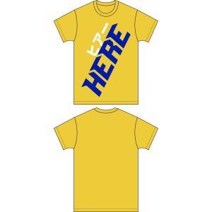【HERE】Big LOGO Tシャツ イエロー|banzai