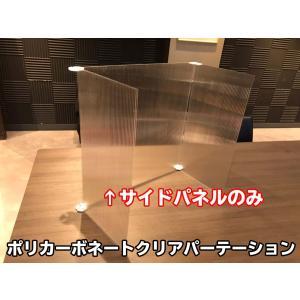 ポリカーボネートクリアパーテーション【サイドパネルのみ】|banzai