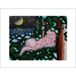 【寺澤晋吾】「或る夜、湖畔にて」アートポスター|banzai