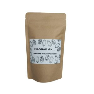 バオバブパウダー300g オーガニック/天然食物繊維、ビタミンC、カルシウム、ポリフェノール/水溶性...