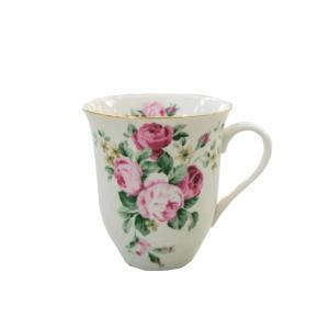 マグカップ おしゃれ プレゼント 陶器 薔薇 ローズ 花柄 パンセアラローズ クラシカルローズ かわいい barazakkawithheart