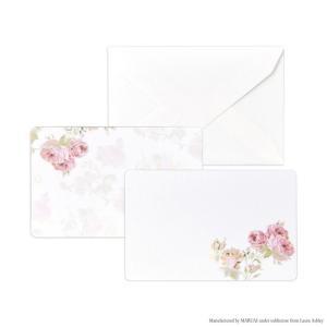 LAURA ASHLEY ローラ アシュレイ ミニカード&封筒セット 日本製 メッセージカード 花柄 おしゃれ 薔薇|barazakkawithheart