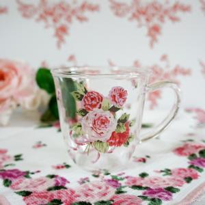 耐熱ガラス マグカップ おしゃれ プレゼント薔薇 ローズ ローズヴィーナス 日本製 barazakkawithheart