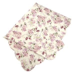 マルチカバー キルト 約190cm×190cm Lサイズ 正方形 ローラ ローズ 薔薇 花柄 かわいい|barazakkawithheart