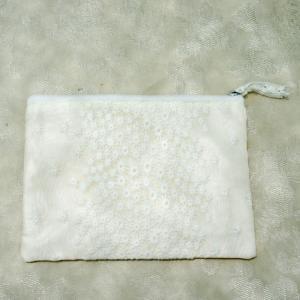 フラットポーチS confetti etoile コンフェティエトワル コンフェティエトワル 刺繍 おしゃれ|barazakkawithheart