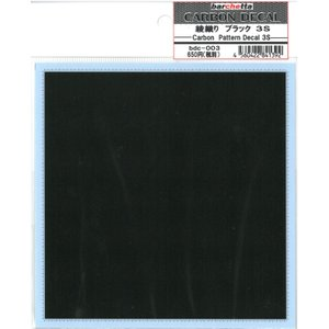 カーボンデカール 3Sサイズ ブラック(1mm目盛り付き)128×130 barchetta