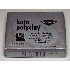 ケイトポリクレイ 56g:メタリックシルバー【Van Aken社 オーブン樹脂粘土】 barchetta