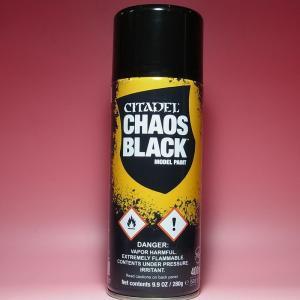 CHAOS BLACK SPRAY【CITADEL 62-02-51 CHAOS BLACK SPRAY】|barchetta