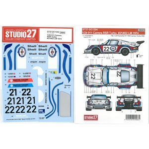 1/24 911 Carrera RSR Turbo #21/#22 LM 1974(F社1/24対応)|barchetta
