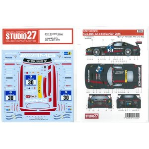 1/24 AMG GT3 #30 Nur24h 2016(T社1/24対応)【スタジオ27デカール】|barchetta