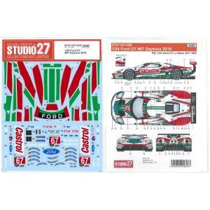 1/24 フォードGT #67 Daytona2019(R社1/24対応)【スタジオ27 デカール ST27-DC1220】 barchetta
