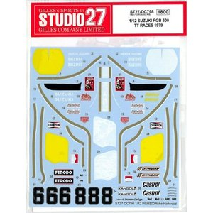 1/12 SUZUKI RGB 500 TT RACES 1979 MIKE HAILWOOD|barchetta