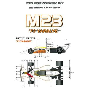 M23 '73 YARDLYE  【1/20 McLaren M23 for TAMIYA】|barchetta