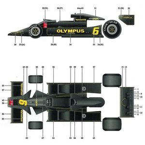 LOTUS78  1978 Italian GP【1/12CONVERSION KIT (T社 Lotus78対応)】|barchetta