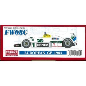 FW08C EUROPEAN GP 1983【スタジオ27 1/20 FD20006】 barchetta