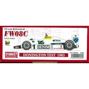FW08C DONINGTON TEST 1983【スタジオ27 1/20 FD20007】 barchetta