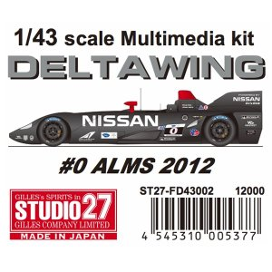 DELTA WING #0 ALMS 2012 1/43scale Multimedia kit|barchetta