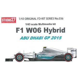 W06 Hybrid ABU DHABI GP 2015 1/43scale Multimedi kit|barchetta