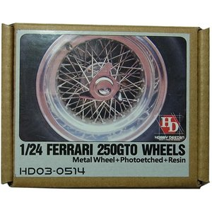 1/24 フェラーリ250GTO ホイール (フジミ対応) MetalWheel+Photoetched+Resin【ホビーデザイン】|barchetta