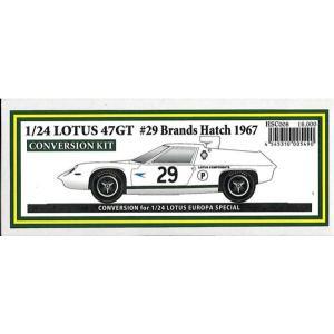 LOTUS47GT #29 Brands Hatch 1967 1/24scale CONVERSION KIT|barchetta