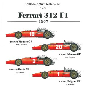 フェラーリ 312F1'67 Ver.A【MFH 1/20 K272】|barchetta