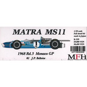 MATRA MS11 1968 Rd.3 Monaco GP #1 J.P.Beltoise【MFH 1/20 K335 Ver.A】|barchetta