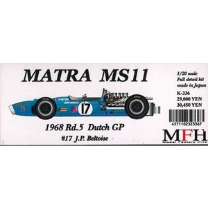 MATRA MS11 1968 Rd.5 Dutch GP #17 J.P.Beltoise【MFH 1/20 K336 Ver.B】|barchetta