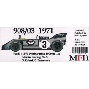 908/03 1971 Nurburgring 1000km 1st 【1/24 K-373 Ver.D Full detail kit】|barchetta