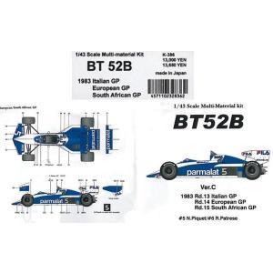 BT52B 1983 ItalianGP.EuropeanGP.South AfricanGP【1/43 K-386 Ver.CMulti-Material kit】|barchetta