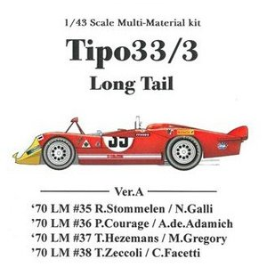 Tipo33/3 Long Tail Ver.A 【1/43 K-474 Multi-material kit】|barchetta