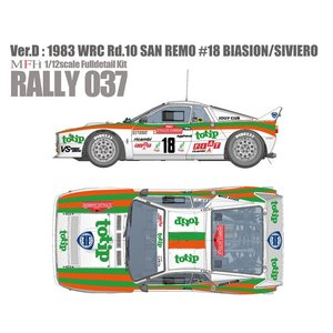 Rally 037 (Ver.D) : Jolly Club Totip 1983 WRC Rd.10 San Remo|barchetta
