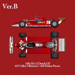 Ferrari 126CK 【ver.B】1981 Rd.12 Dutch GP  【モデルファクトリーヒロ K530】|barchetta