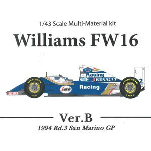 スポンサーデカールセット Williams FW16 San Marino GP Ver.B【MFH k536 1/43】|barchetta