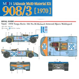 908/3 1970 Ver.C Targa Florio 5th No.36【MFH 1/43 k572】|barchetta