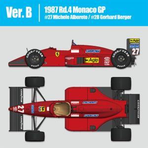 フェラーリF187 Ver.B:1987 Rd.4 Monaco GP【モデルファクトリーヒロ 1/12 K625】|barchetta