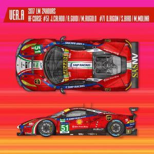 フェラーリ488 GTE 2017 LM 24hours AF Corse【MFH 1/24 K629 Ver.A】|barchetta