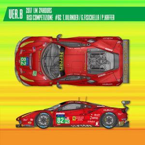 フェラーリ488 GTE 2017 LM 24hours Risi Competizione【MFH 1/24 K630 Ver.B】|barchetta