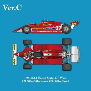 フェラーリ 126CK 1981 Rd.1United States GP West【MFH 1/12 K639 Ver.C】|barchetta