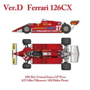 フェラーリ 126CX 1981 Rd.1United States GP West【MFH 1/12 K640 Ver.D】|barchetta