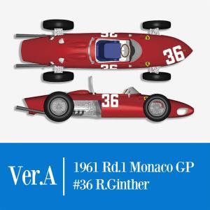 1/12 フェラーリ 156 SHARK NOSE 1961 Rd.1 Monaco GP【モデルファクトリーヒロ K642 Ver.A】|barchetta