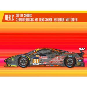 フェラーリ488 GTE 2017 LM 24hours Clearwater Racing#61【MFH 1/24 K645 Ver.C】|barchetta
