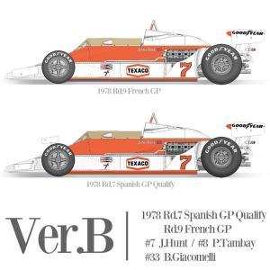 マクラーレン M26 Ver.B スポンサーデカール特別セット【モデルファクトリーヒロ 1/12 K665】|barchetta