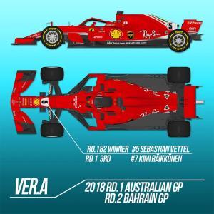 フェラーリ SF71H Ver.A【モデルファクトリーヒロ MFH K670】|barchetta