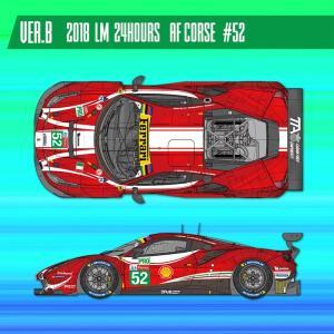 フェラーリ488 GTE 2018 #52【MFH 1/24 K682 Ver.B】|barchetta
