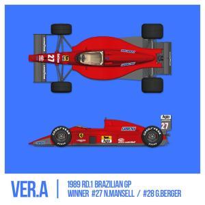フェラーリ F1-89(640) Ver.A : Early Type※スポンサーデカール付き【モデルファクトリーヒロ 1/12 K694】|barchetta