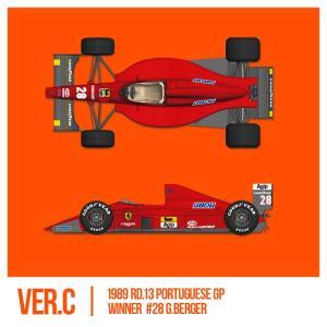 フェラーリ F1-89(640) Ver.C : Late Type※スポンサーデカール付き【モデルファクトリーヒロ 1/12 K696】|barchetta