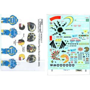 1/12 V.ロッシ フィギュア用デカール 2002-2005【MSMクリエーション】|barchetta